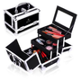 Shany Cosmetics Black Makeup Train Case with Mirror, 48 Ounce
