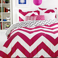 Chevron Pink 5 Piece Comforter Sets - Dorm Bedding - Bed & Bath - Macy's