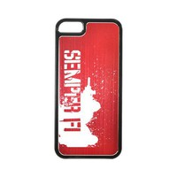 Apple iPhone 5 Hard Back Cover w/ Red Aluminum Back - Marine