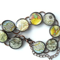 Vintage Map Bracelet on Luulla