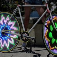 Amazon.com: Cool Shiny Bike Bicycle Car Motorcycle RGB 16 LED RGB Color Flash Tire Valve Wheel Spoke Light: Sports & Outdoors