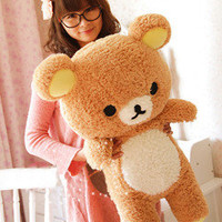 San-x Rilakkuma Relax Bear Soft 80cm 31'' Pillow Plush Doll Toy 100% PP Cotton A