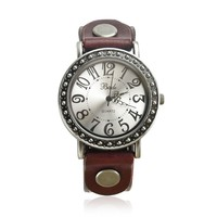 Women's Vintage Cow Leather Watch Color Brown
