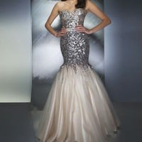 Custom New 2014 Paillette Lace Mermaid Prom Pageant Dresses Party Evening Gowns