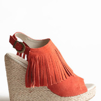 Apache Suede Fringe Wedges by Chelsea Crew -: ThreadSence.com