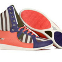 Creative Recreation Womens Galow High (grape / salmon / military green / stripe) R75HI38-GPSMS