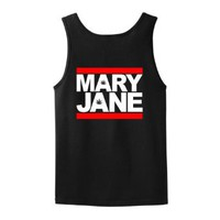 Amazon.com: MARY JANE Tank Top T-Shirt Weed Pot 420 Funny Stoner Cannabis Smoke Party Bong California Colorado Washington Legalize College Humor Wife Beater Tank Top Tee: Clothing