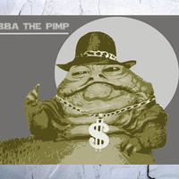 Star Wars Poster vintage art movie art film print star wars poster print 16x24 JABBA THE PIMP
