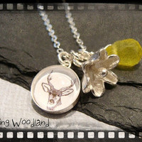 Spring Woodland Sterling Silver Deer Stag by GracefulDeviant