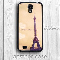Paris Galaxy s4 Case Eiffel Tower in Sunset romantic France Paris Galaxy s4 Rubber Case iPhone 5 Back Cover --000084