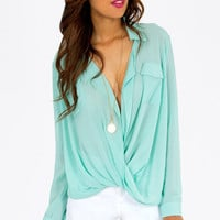 Aubrey Twist Top $33