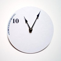 The Number 10 Clock by CyberMoon on Etsy