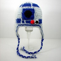 R2D2 Earflap Hat from Star Wars, please send size | CutieHats - Accessories on ArtFire