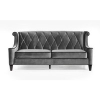 Barrister Velvet Sofa in Gray