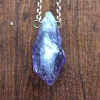 Amethyst Crystal Point Necklace from Chromosphere