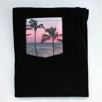 """Two Palm Trees"" Pocket Tee from phethean"