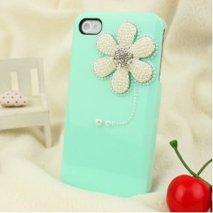 3D Bling Crystal iPhone Case for AT&T Verizon Sprint iPhone 4/4S Sunflower Baby Green: Cell Phones & Accessories