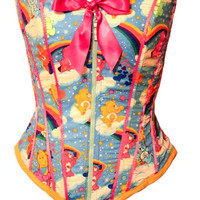 Care Bears Corset by Kawaii Parlor in stock ready by kawaiiparlor