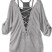 Casual Cotton Gray Shirt and Black Tanks
