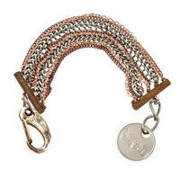 TWISTED SILVER CHAIN MAILLE BRACELET Qs Collections Handbags Purses Earrings Necklace Wallets Leather Scarves