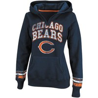 Chicago Bears Ladies Preseason Favorite II Pullover Hoodie - Navy Blue