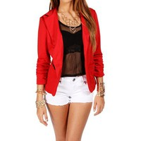 Red Lipstick 34 Knit Blazer