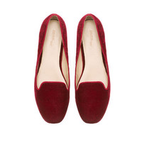 BASIC VELVET SLIPPER - Shoes - Woman | ZARA United States