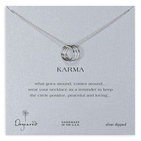 Dogeared 'Karma' Boxed Charm Necklace