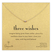 Dogeared 'Three Wishes' Boxed Pendant Necklace