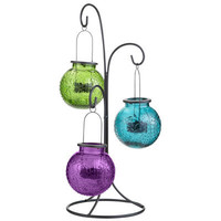 Hanging Sunburst Lanterns on a Stand
