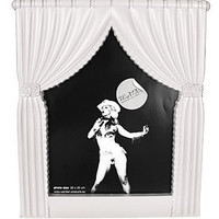 PLASTICLAND - White Tadaaaa Curtains Photo Frame