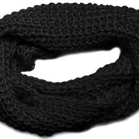 Loose Knit Crochet Loop Eternity Warm Winter Style Fashion Infinity Scarf:Amazon:Clothing