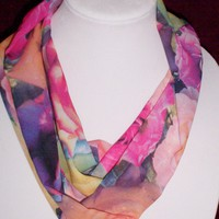Circle Scarf, Infinity Scarves, Multi Color