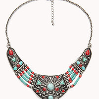 Tribal-Inspired Beaded Bib Necklace