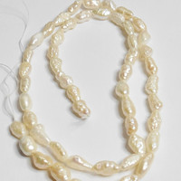 Rice Pearl Fresh Water 16 Inch Strand 7-8mm