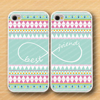 Aztec,infinity& Best Friends iPhone 4 Case, iPhone 4s Case, iPhone 4 Hard Plastic Case, Personalized iPhone cover--water proof
