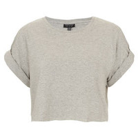Roll Back Crop Tee - Everyday Basics - Jersey Tops  - Clothing