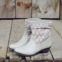 Laced Path Boots in Stone, Sweet Rugged Boots