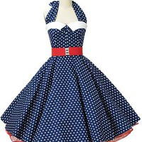 50s Polka Dot Dress-1950s Style Swing Dresses