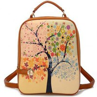 Tree of Four Seasons Backpack-j
