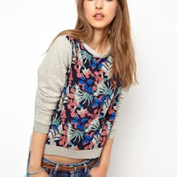 Pepe Jeans London Sweatshirt With Woven Front