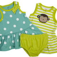 Carter's 2 Pack Sleeveless Dress Set - Teal/Green