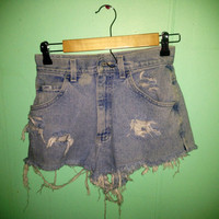 High waisted distressed shorts  by HypsterDreamz on Etsy