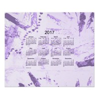 Old Purple Paint 2017 Wall Calendar Posters from Zazzle.com