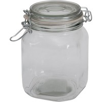 Walmart: Mainstays 38 oz Clear Glass Jar with Clamp Lid