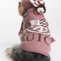 Dog Logo Sweater, Hat & Scarf Set