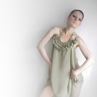 Reserved listing beige mousseline okapi tunic with by okapiknits