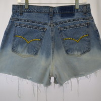 Ombre Shorts With Gold Stud Detail