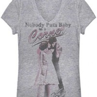Dirty Dancing Baby in the Corner Distressed Heather Gray Juniors T-shirt  - Dirty Dancing - | TV Store Online