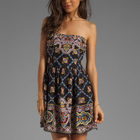 Nanette Lepore Bandana Print Blindfold Dress in Black Multi from REVOLVEclothing.com